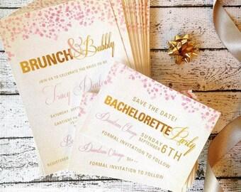 Champagne Bridal Shower Invitation (PRINTED FILE)