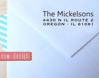 CUSTOM PRE INKED address stamp with proof, pre inked custom address stamp, return address stamp, rsvp address stamper - Monogram b5-79