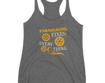 Paragliding Fixes Everything Tank top