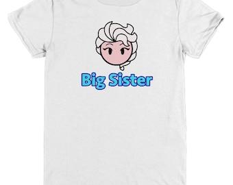 Frozen Elsa Big Sister Gift Shirt Disney Child Youth Fun Shirts Let It Go
