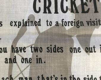 Cricket teatowel