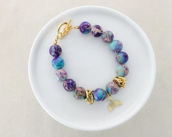LIMITED EDITION - Merbabe Beaded Bracelet  - Gold - Summer Collection