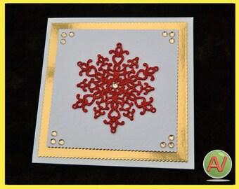 Snowflake 3D Christmas Card.
