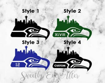 Seahawks Decal Etsy - Custom car decals vancouver   how to personalize