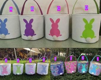 Monogrammed Easter Basket, personalized easter basket,  Bunny Easter Basket, Top Seller, Easter Bucket