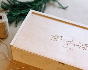 Custom Engraved Box, Wooden Box, Keepsake Box, Memorial Box, Anniversary Gift, Valentine's Gifts, Corporate Gifts,Baby Keepsake Box,Wood Box