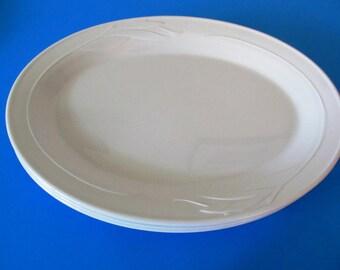 Corning Platter, Casual Elegance, White Flora