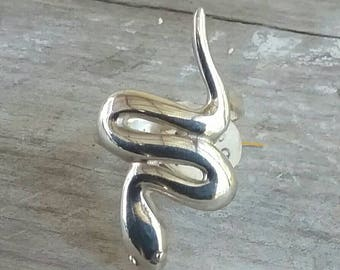 Snake serpent ring sterling silver