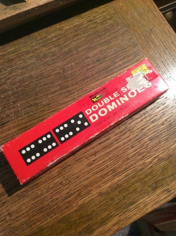 Vintage 1960's Double six dominoes, Jaymar dominoes, vintage game of dominoes, great family game, family game night ready, vintage gift idea