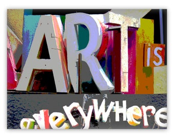 """Art Is Everywhere 24""""x18"""" Canvas Art Print - Great Gift for Artists, Art Teachers, and all Art Lovers. Great quality at a bargain price."""