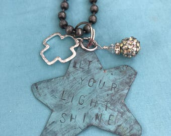 Let Your Light Shine stamped necklace
