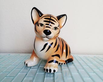 Tiger Kitten Statue JAPAN - Large