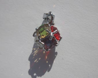 Ball Pendant 1.1 cm (14 PV48) glass rhinestones and metal
