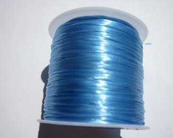 5 meters of thread blue color elastic on cardboard (11).