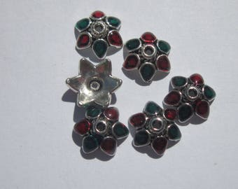 6 cups for beads metal enameled (2048)
