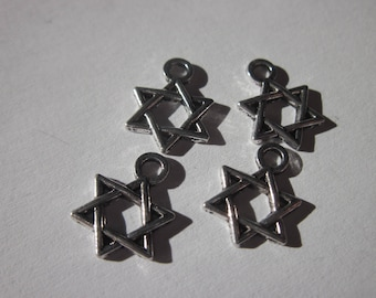 4 charms 19 mm-(127) metal star