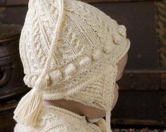 Cotton Baby Hat, Newborn Baby Gift, Heirloom baby hat, christening hat, baby shower gift