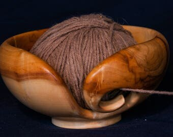 Hand Turned Wooden (Box Elder) Yarn Bowl