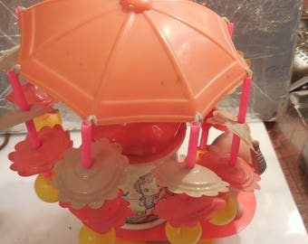 Vintage Toy Carousel with Elephant Cellioud
