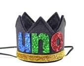 UNO Birthday Party Crown || Taco Bout A Party || First Birthday Crown || Black Felt Crown || Cinco De Mayo