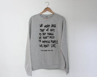 Fight Club Regular Unisex Sweatshirt Sweater Jumper