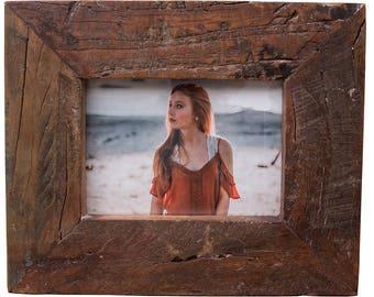 Reclaimed Drift Wood Picture Frame, Wood Picture Frame, 5x7 Frame, 4x6 Frame, Handmade Frame, Rustic Home, Wedding Frame, Easter Gift