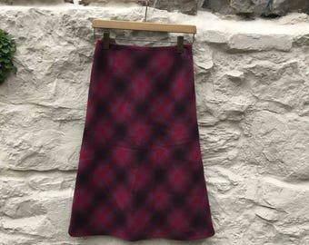 Vintage Laura Ashley wool A line skirt UK size 8 US 4