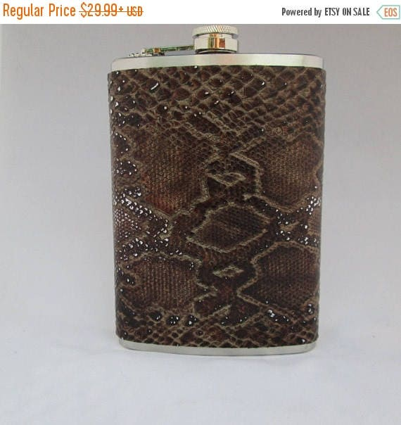 25% OFF Flask, Boot Flask, Tooled Leather Flask, Hand-crafted Leather Flask, Hip Flask