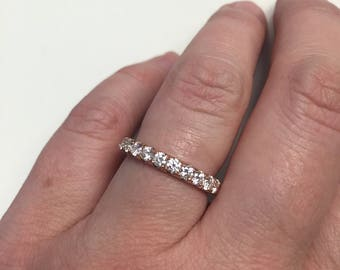 U pave diamond eternity ring in 14kt rose gold 1.80cttw F-G color and VS clarity