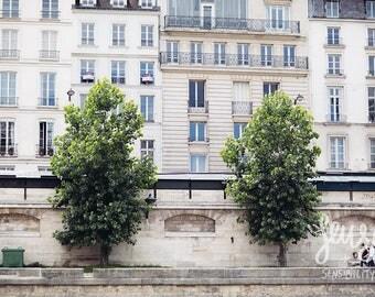 Paris Photography, Large Wall Art Print, Effeil Tower, Paris Decor, Romantic Art Print, Fine Art Photography - Along the Seine