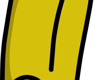Cartoon Pencil SVG cut file