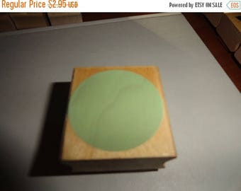 50% OFF Solid Circle 1.5 by 1.5 inch Vintage Wooden rubber stamp