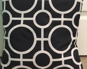 Black and White pillowcase - Machine Washable Polyjack Black