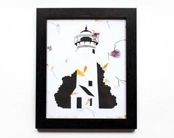 West Chop Cut Paper Lighthouse (Tisbury, Martha's Vineyard) - Flower Petals