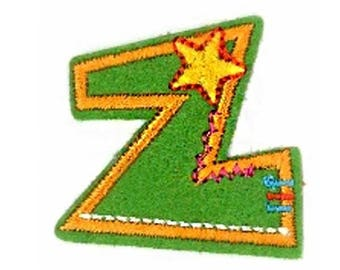 Fusible embroidered alphabet letter Z sold individually