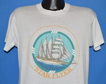 80s Star Flyer Tall Ship t-shirt Large