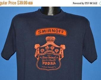 ON SALE 80s Smirnoff Vodka Label Leaves You Breathless t-shirt Large