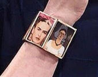Frida Kahlo Bracelet w/ Big Beads