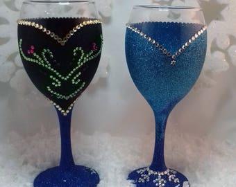 Princess Inspired Wine Glass - Frozen
