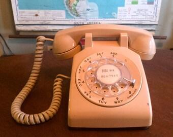 Vintage 1978 Taupe Beige ITT Rotary Phone