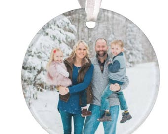 Family Christmas Ornament Photo Ornament Picture Ornament Personalized Ornament Ceramic Ornament Housewarming Gift Chrismtas Gift RyElle