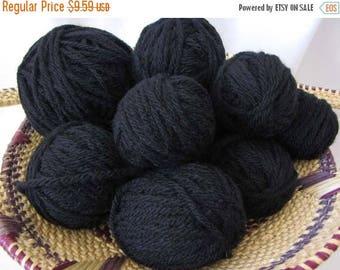 SALE 25% off Destash Yarn - Chunky Black Oddballs! - Wool-ease Chunky - 12.0 oz. - Wool Acrylic Blend Leftovers - New and Unused