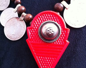 Tribal fusion necklace with talhakimt