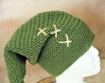 Link inspired by legend of Zelda one size handmade crochet hat