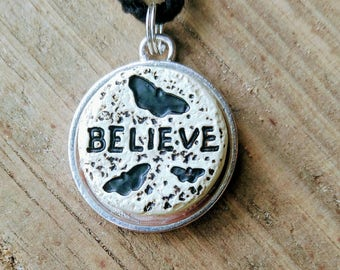 Fairytale Pendant / Believe Pendant / Believe / Necklace / Gift / Jewelry / Raven Pendant / Dream / Butterfly