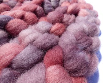 Hand Dyed Wool Roving (Top) - Exmoor Blueface - 100g