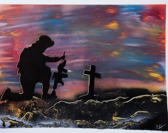 Spray Paint Art, The Fallen soldier