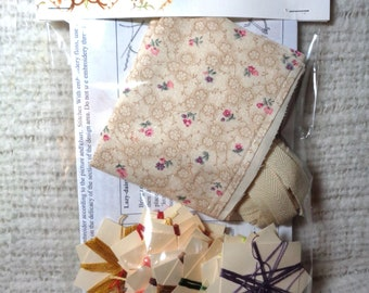 KIT for making a Lady's 18th century silk and linen Embroidered Pocket