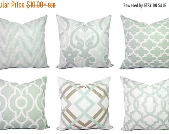 soft decorative pillows. 15  OFF SALE Soft Green Pillow Covers Artichoke and White Throw Pillows throw pillow Etsy