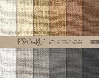 15% OFF Burlap Digital Papers, Natural Burlap Pattern,  Fabric Papers